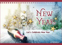 Free eCards, e-Cards with music - Let's Celebrate New Year,