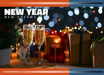 Free eCards, e-Cards with music - New Year New Dreams,