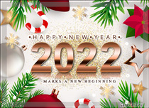 Free eCards, e-Cards with music - New Year Wishes,