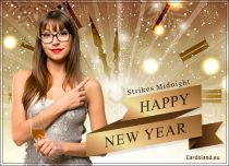 Free eCards, New Year ecards free - Strikes Midnight...,