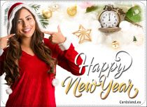 Free eCards, New Year greeting cards - When the Clock Strikes Midnight,