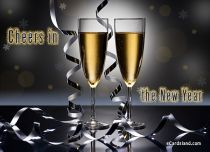 eCards New Year Cheers in the New Year, Cheers in the New Year