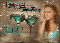 eCards New Year Champagne for You, Champagne for You