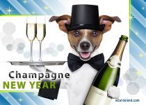 eCards New Year Champagne New Year, Champagne New Year