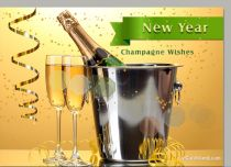 eCards New Year Champagne Wishes, Champagne Wishes