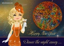 eCards New Year Dance the Night Away, Dance the Night Away