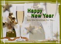 eCards  New Year Greetings For You,