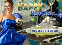 Free eCards - New Year's Eve dinner,