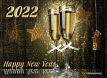 eCards  New Year Stars 2020,