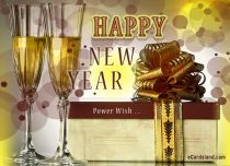 eCards New Year Power Wish, Power Wish