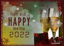 eCards New Year Power Wish, Power Wish