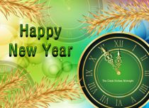 eCards New Year The Clock Strikes Midnight, The Clock Strikes Midnight