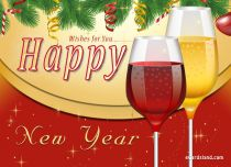eCards New Year Wishes for You, Wishes for You