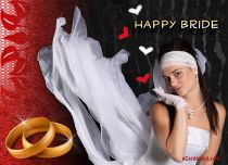 Free eCards Wedding - Happy Bride,