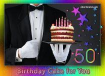 Free eCards - 50th Birthday Cake,