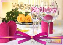 eCards Birthday Accept the Bouquet of best Wishes, Accept the Bouquet of best Wishes