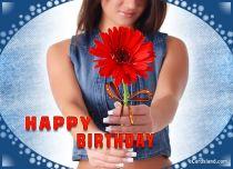 eCards Birthday Birthday Flower, Birthday Flower