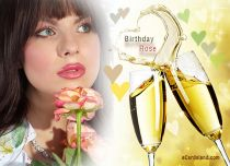 eCards Birthday Birthday Rose eCard, Birthday Rose eCard