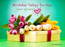 Free eCards - Birthday Tulips for You,