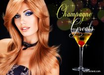 eCards Birthday Champagne Greats, Champagne Greats