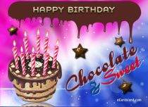 Free eCards - Chocolate Birthday Cake,