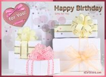 eCards Birthday Gifts for You, Gifts for You