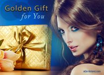 Free eCards - Golden Gift for You,
