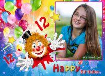 eCards Birthday Happy 12th Birthday, Happy 12th Birthday