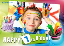 Free eCards - Happy 7th B'day,