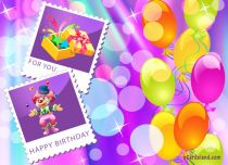 eCards  Happy Birthday Balloons,