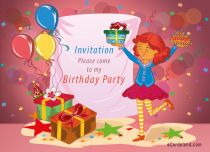 eCards Birthday Invitation, Invitation