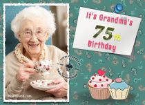 Free eCards - It's Grandma's 75th Birthday,