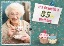 eCards Birthday It's Grandma's 85th Birthday, It's Grandma's 85th Birthday