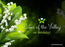 Free eCards, Funny Birthday cards - Lilies of the Valley on Birthday,