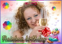 eCards  Rainbow Birthday,