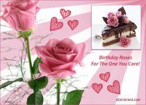 eCards Birthday Roses Greeting eCard, Roses Greeting eCard