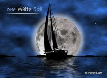 Free eCards Holidays - Lone White Sail,