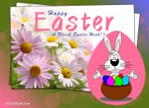 eCards  A Floral Easter Wish,