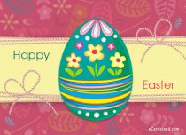 eCards Easter Beautiful Easter Egg, Beautiful Easter Egg