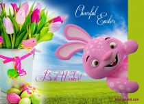 Free eCards, Easter cards messages - Cheerful Easter Bunny,