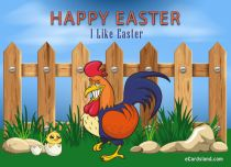 eCards Easter Cheerful Rooster, Cheerful Rooster