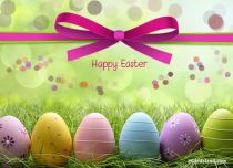 Free eCards, Easter e card - Colorful Easter Eggs,