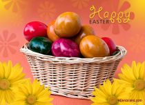 eCards Easter Colorful Eggs eCard, Colorful Eggs eCard
