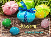 eCards Easter Colorful Wishes, Colorful Wishes