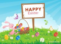 Free eCards - Easter Basket Full of Eggs,