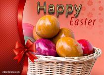 eCards - Easter Basket Full of Eggs,