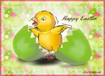Free eCards - Easter Chick eCard,