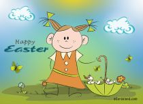 eCards  Easter Ducks,