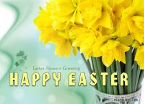 eCards Easter Easter Flowers Greeting, Easter Flowers Greeting
