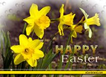 eCards  Easter Flowers Greeting,
